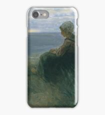 Jozef Israels - A Fishergirl On A Dune Top Overlooking The Sea iPhone Case/Skin
