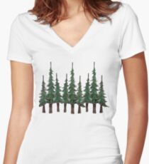 The Evergreens Women's Fitted V-Neck T-Shirt