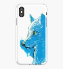 sumi wolf blue iPhone Case/Skin