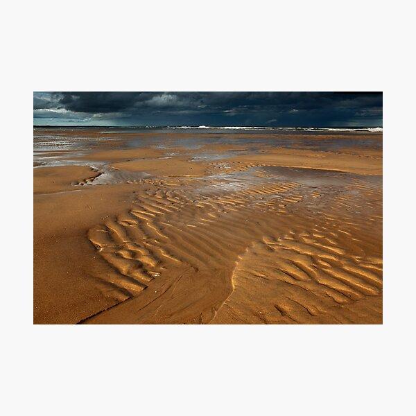 ripples, balmedie beach Photographic Print