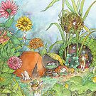 Secret Fort in the Abandoned Garden by Leigh Ann Gagnon