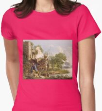 Joseph Wright Of Derby - The Old Man And Death Womens Fitted T-Shirt