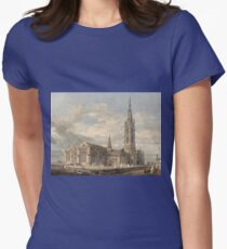 Joseph Mallord William Turner - North East View Of Grantham Church, Lincolnshire, 1796 Womens Fitted T-Shirt