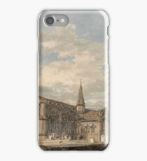 Joseph Mallord William Turner - North East View Of Grantham Church, Lincolnshire, 1796 iPhone Case/Skin