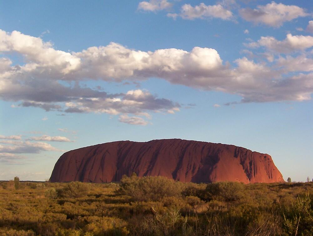 Uluru at midday by Dearg77