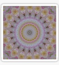 Mandala Of Yellow Roses Sticker