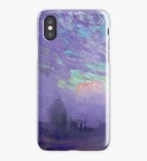 Joseph Pennell - Green, Blue And Purple (View Of London) iPhone Case