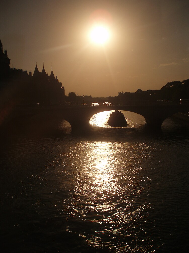 The Seine at sunset by Dearg77