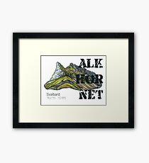 Mountain Alkhornet on Svalbard Framed Print