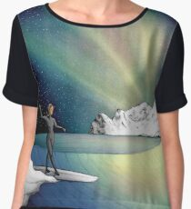 Arctic Surf Under The Northern Lights Women's Chiffon Top