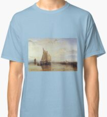 Joseph Mallord William Turner - Dort Or Dordrecht- The Dort Packet-Boat From Rotterdam Becalmed, 1818 Classic T-Shirt