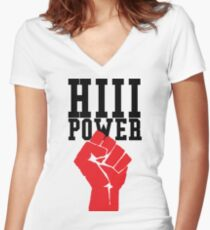 Hii Power - Kendrick Lamar Inspiration Women's Fitted V-Neck T-Shirt