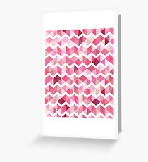 Pink chevron Greeting Card