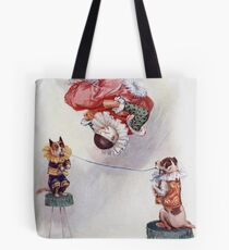 Joseph Finnemore - Dog And Clown Circus Act Tote Bag