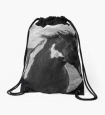 Dark Horse Drawstring Bag