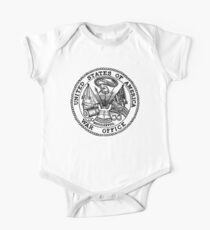 WAR OFFICE, Seal, United States Department of War, Seal of the United States Department of the Army.  Kids Clothes
