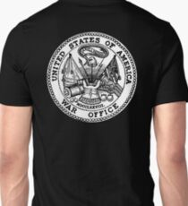 WAR OFFICE, Seal, United States Department of War, Seal of the United States Department of the Army.  Unisex T-Shirt