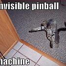 Cat Plays Invisible Pinball Machine Meme by 904PinballZine