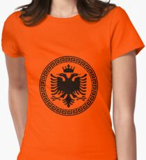Albania with Crown Womens Fitted T-Shirt