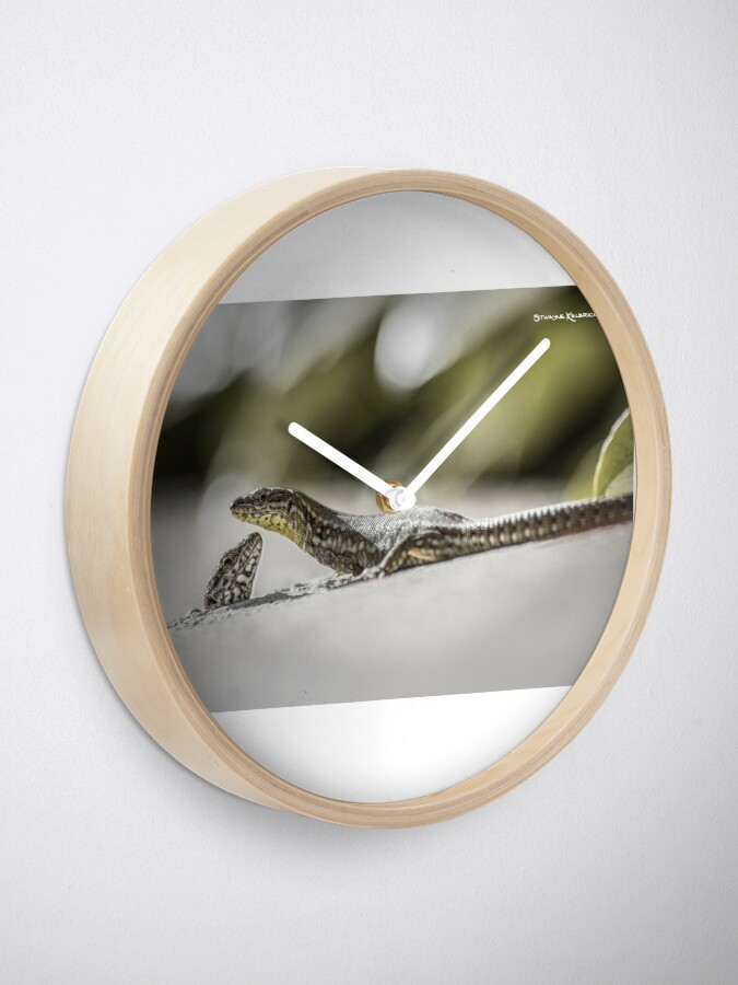 Alternate view of The charming lizards Clock