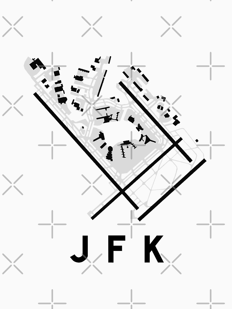 Jfk Airport Diagram Classic T Shirt By Vidicious