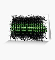 abstract coding matrix programmer developer Greeting Card