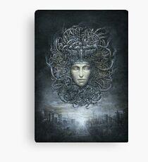 Medusa Cyborg Canvas Print