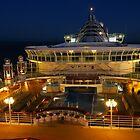 Cruise Ship at Night by wiggyofipswich