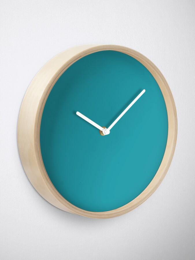 Alternative Ansicht von Teal / Light Sea Green einfarbig Uhr