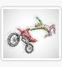 Motocross Jumping Sticker