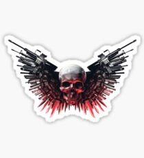 expendables skull - choose your weapon Sticker