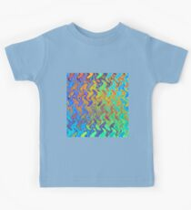 Color Pattern of Abstract Blue and Lilac Kids Clothes