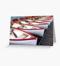 Rowboats Greeting Card