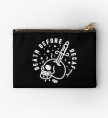 Death Before Decaf Zipper Pouch