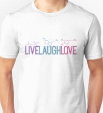 Live Laugh Love Molecules Unisex T-Shirt