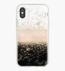 Elegantes Roségold Konfetti Marmor Design iPhone-Hülle & Cover