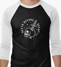 Death Before Decaf Men's Baseball ¾ T-Shirt