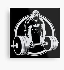 Gorilla Gym Metal Print