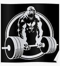 Gorilla-Fitnessstudio Poster