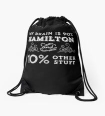 Mochila de cuerdas My Brain is 90% Hamilton Camiseta vintage de Hamilton Broadway Musical - Aaron Burr Alexander Hamilton Gift
