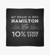 My Brain is 90% Hamilton Vintage T-Shirt from the Hamilton Broadway Musical - Aaron Burr Alexander Hamilton Gift Scarf