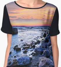 Sunset over water Chiffon Top