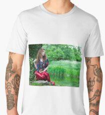 EllaRose in the style of the Pre-Raphaelite Men's Premium T-Shirt
