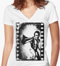Dirty Harry Clint Eastwood Women's Fitted V-Neck T-Shirt
