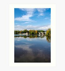 Susquehanna River Landscape Art Print