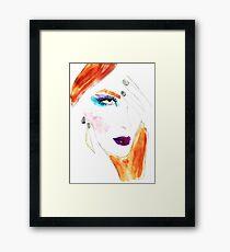 Fashion illustration: makeup Framed Print
