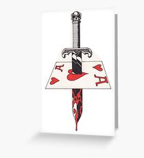 Bloody Ace Greeting Card