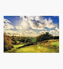 Sunlight Over The Valley Photographic Print
