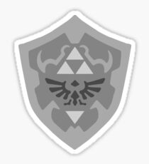 Black and White Hylian Shield Sticker