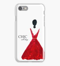 chic all day in red iPhone Case/Skin